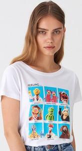 T-shirt House w młodzieżowym stylu z krótkim rękawem z nadrukiem