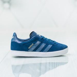 Granatowe trampki dziecięce Adidas sznurowane