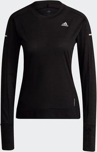 Czarna bluza Adidas w sportowym stylu bez kaptura krótka