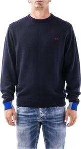 Sweter Sun 68 w stylu casual z okrągłym dekoltem
