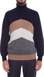Niebieski sweter Brunello Cucinelli z wełny