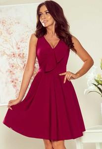 Czerwona sukienka 4myself.pl z dekoltem w kształcie litery v mini