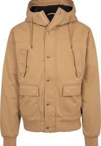 Brązowa kurtka Urban Classics krótka z bawełny
