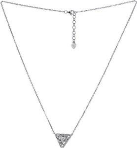Monarti Srebrny naszyjnik trójkąt z cyrkoniami
