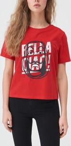 T-shirt Sinsay z bawełny w młodzieżowym stylu z okrągłym dekoltem