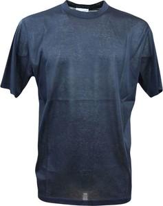 Niebieski t-shirt Gazzarrini w stylu casual