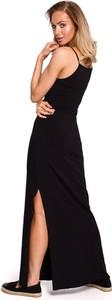 Sukienka MOE na ramiączkach z bawełny maxi