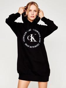 Sukienka Calvin Klein sportowa mini z długim rękawem