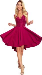 Sukienka NUMOCO asymetryczna z dekoltem w kształcie litery v