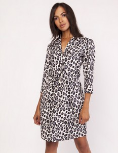 Sukienka Lanti z tkaniny z długim rękawem mini