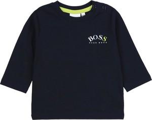 Granatowa koszulka dziecięca Hugo Boss z bawełny