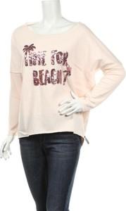 Różowa bluzka Cotton Candy z długim rękawem w młodzieżowym stylu