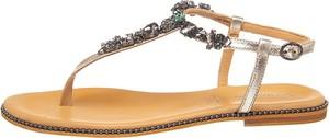 Sandały Salamander z klamrami z płaską podeszwą ze skóry