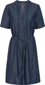 Niebieska sukienka bonprix mini