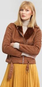 Brązowa kurtka Renee w stylu casual