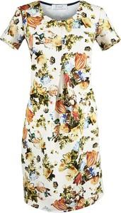 Sukienka Fokus z krótkim rękawem w stylu etno midi