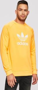 Żółta bluza Adidas Originals z dzianiny