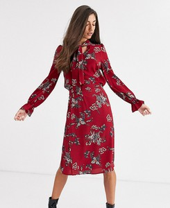 Czerwona bluzka Vero Moda Tall w stylu boho