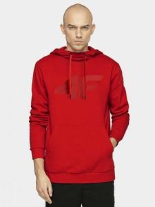 Czerwona bluza 4F z dresówki