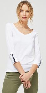 Bluzka Moodo z okrągłym dekoltem z bawełny