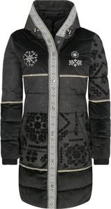 Czarny płaszcz Desigual w stylu casual