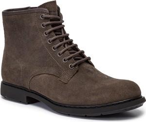 Brązowe buty zimowe Camper sznurowane