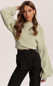 Zielony sweter Renee w stylu casual