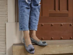 Baleriny Zapato z nubuku w stylu glamour
