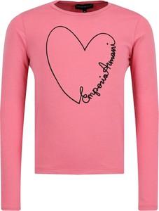 Różowa bluzka dziecięca Emporio Armani