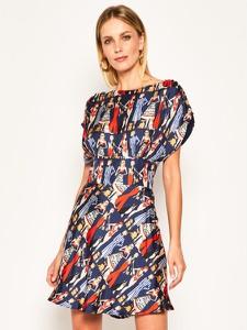 Sukienka Elisabetta Franchi z krótkim rękawem mini z okrągłym dekoltem