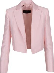 Różowa kurtka MaxMara z jedwabiu