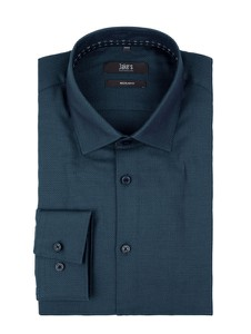 Niebieska koszula Jake*s z długim rękawem z klasycznym kołnierzykiem z bawełny