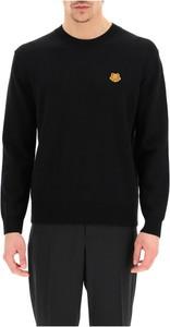 Czarny sweter Kenzo z wełny z okrągłym dekoltem