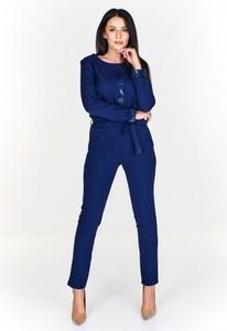 Kombinezon La Vie z długimi nogawkami w stylu glamour
