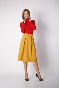 Żółta spódnica Nommo midi