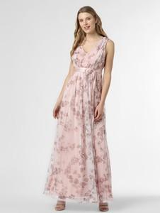 Różowa sukienka Marie Lund maxi z satyny
