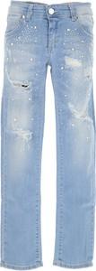 Niebieskie spodnie dziecięce Blumarine