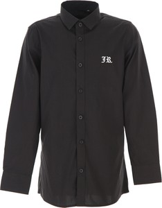 Czarna koszula dziecięca Richmond z bawełny