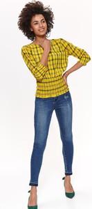 Żółta bluzka Top Secret w stylu casual