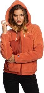 Pomarańczowa kurtka Champion z plaru w stylu casual krótka