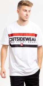 T-shirt Outsidewear z żakardu