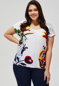 T-shirt Moodo z okrągłym dekoltem z krótkim rękawem w stylu casual