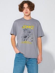 T-shirt LOCAL HEROES z bawełny w młodzieżowym stylu