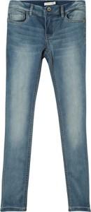 Niebieskie spodnie dziecięce Name it z jeansu