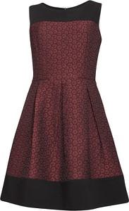 Czerwona sukienka Smashed Lemon trapezowa z okrągłym dekoltem