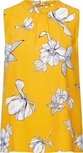 Żółta bluzka S.Oliver Black Label z okrągłym dekoltem bez rękawów