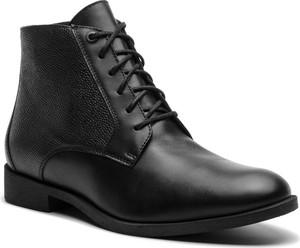 Czarne buty zimowe Gino Rossi sznurowane