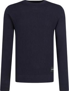 Granatowy sweter Calvin Klein z kaszmiru w stylu casual