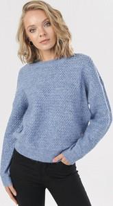 Niebieski sweter born2be w stylu casual