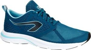 Granatowe buty sportowe kalenji sznurowane w sportowym stylu